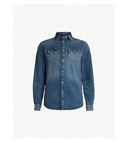 ALLSAINTS Imonum 牛仔衬衫 (靛蓝