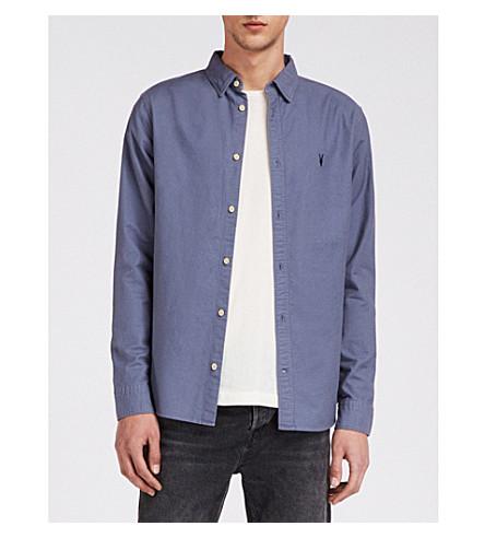 espacial camisa slim algodón Hungtingdon de ALLSAINTS azul fit 0Aq4Sg