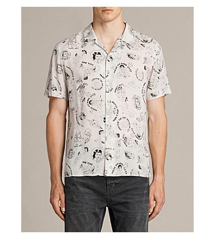 ALLSAINTS Feels cartoon-print woven shirt (Ecru