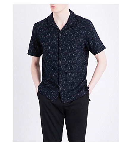 ALLSAINTS Eugene linen and cotton-blend shirt (Dark+ink