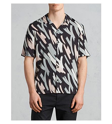 ALLSAINTS Rope classic-fit woven shirt (Black/camo