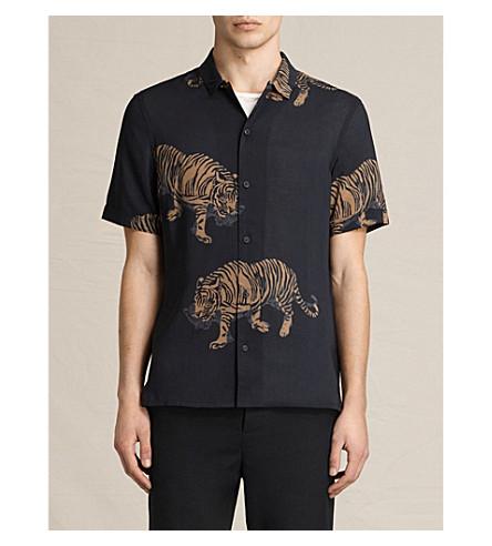 allsaints java tiger print poplin shirt