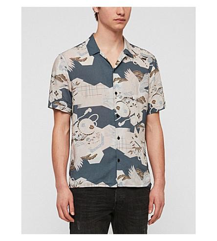 ALLSAINTS Kahana woven shirt (Blue