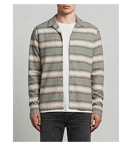 ALLSAINTS Caspere striped flannel shirt (Green