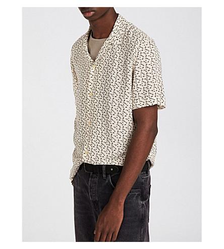 ALLSAINTS Notes woven short-sleeved shirt