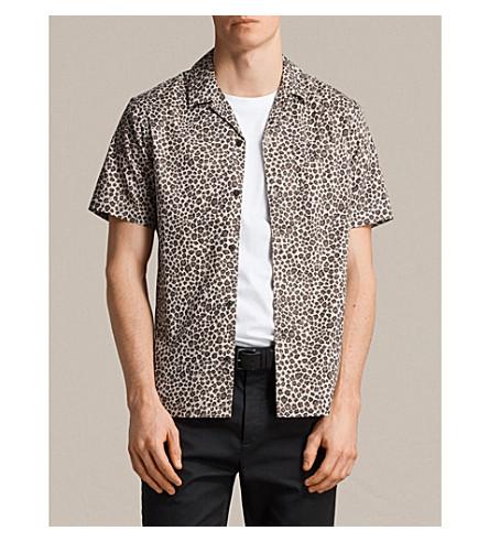 ALLSAINTS Apex leopard-print cotton shirt (Light+brown