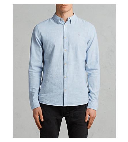 camisa fit claro slim algodón Dulwich de ALLSAINTS azul Z5qUzwW