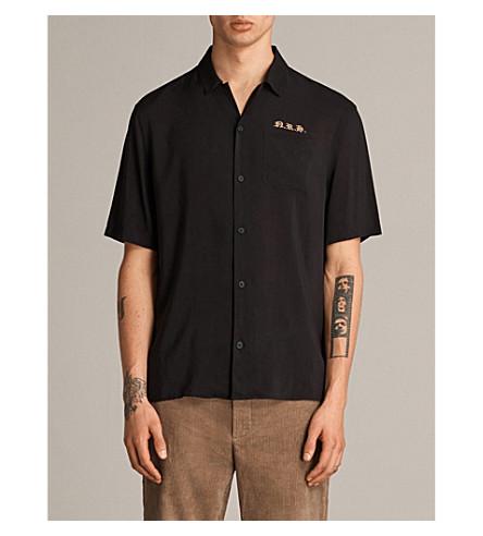 ALLSAINTS Nothing Really Happens Altadena woven shirt (Black