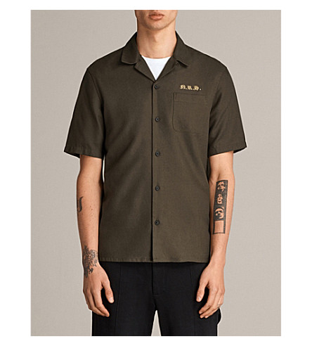ALLSAINTS Nothing Really Happens Burbank cotton-twill shirt (Khaki