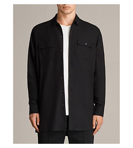 ALLSAINTS 格里尔棉混纺衬衫 (黑色
