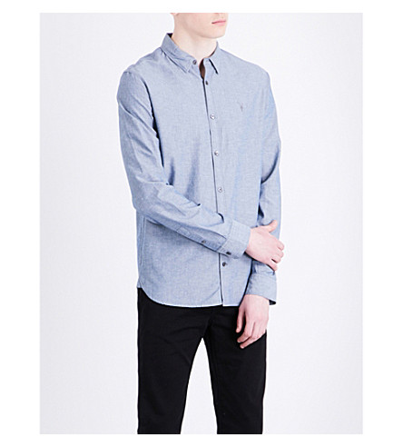ALLSAINTS Tulare regular-fit cotton shirt (Blue