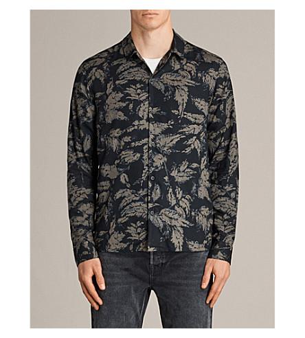 ALLSAINTS Black Birch woven shirt (Black