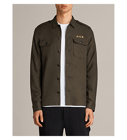 ALLSAINTS Nothing Really Happens Covina cotton-twill shirt (Khaki