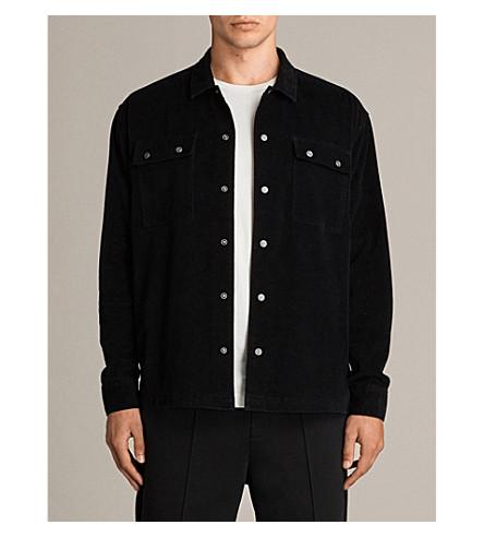 ALLSAINTS Wynwood velvet shirt (Black