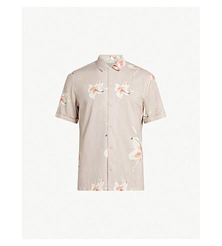 ALLSAINTS Rosarito floral-print cotton-blend shirt (Light+grey