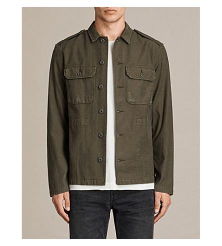 ALLSAINTS Sapper denim shirt jacket (Khaki+green