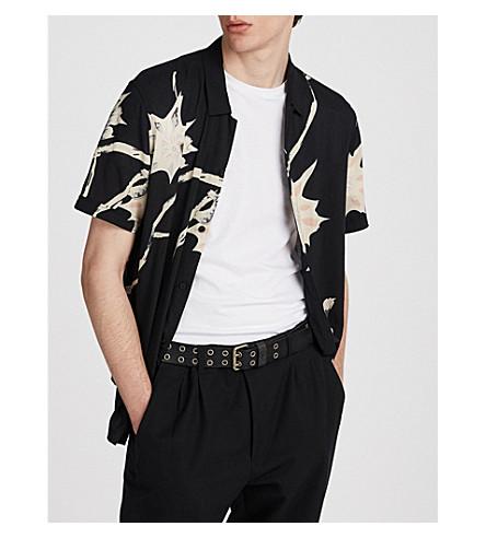 ALLSAINTS Hawaiian Shirt Project Mokapu woven shirt (Jet+black