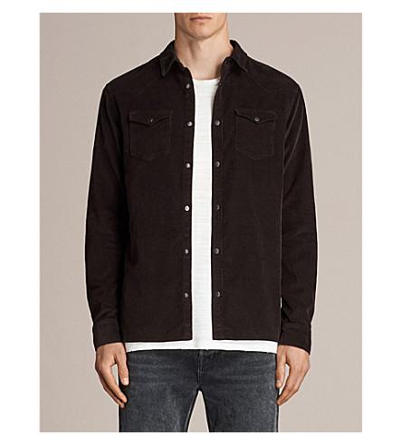 ALLSAINTS Matsuyama slim-fit corduroy shirt (Black