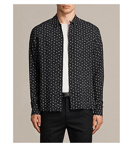 ALLSAINTS New Romantic woven shirt (Black
