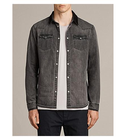 ALLSAINTS Genki slim-fit denim shirt (Grey