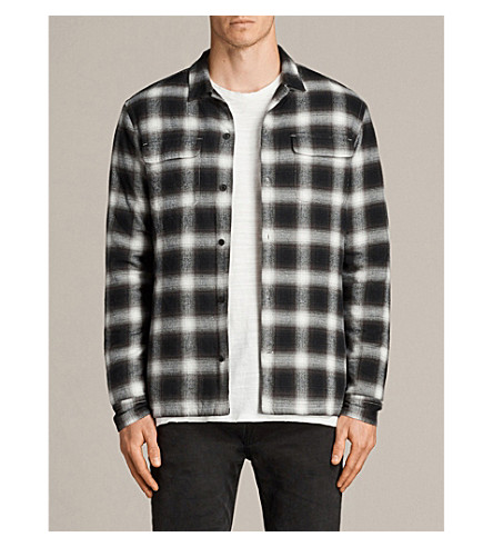 ALLSAINTS Carcosa checked cotton shirt (Black