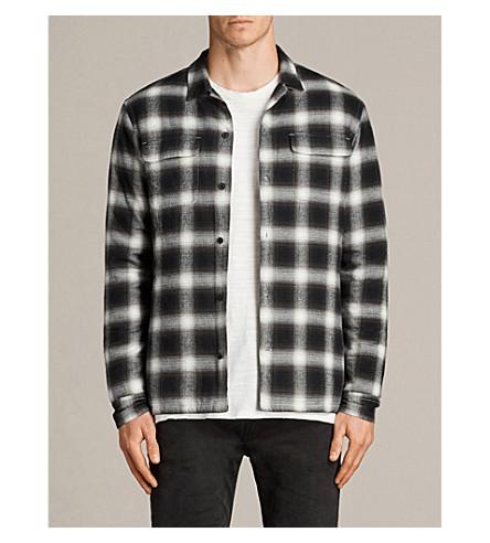 ALLSAINTS Carcosa 格纹棉衬衫 (黑色