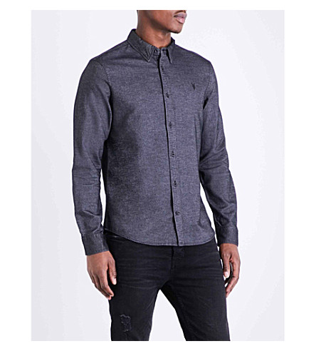 ALLSAINTS Ramey slim-fit pure cotton shirt (Black