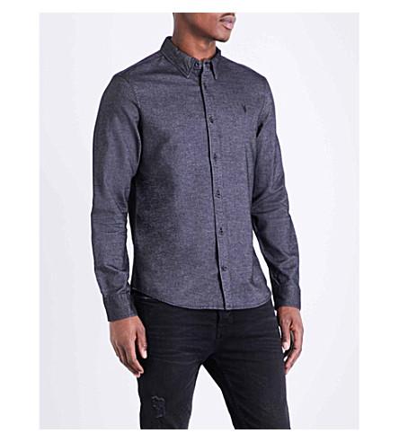ALLSAINTS Ramey slim-fit pure cotton shirt (Black