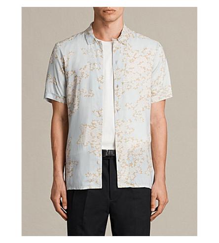 ALLSAINTS Hanami woven short-sleeved shirt (Cement