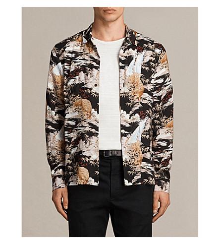 ALLSAINTS Sumatra printed woven shirt (Black