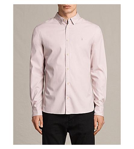 ALLSAINTS Redondo cotton shirt (Ash+pink