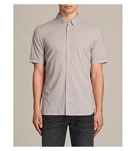 ALLSAINTS Palmate slim-fit cotton-blend shirt (Ecru+white