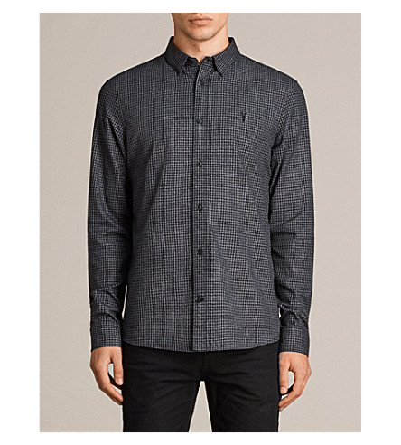 ALLSAINTS Ralston long-sleeve cotton shirt (Black