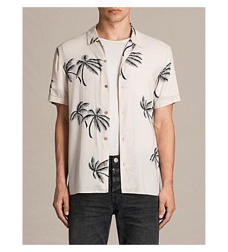 ALLSAINTS Offshore slim-fit printed shirt (Ecru+white