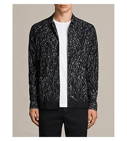 ALLSAINTS Blunt woven shirt (Black
