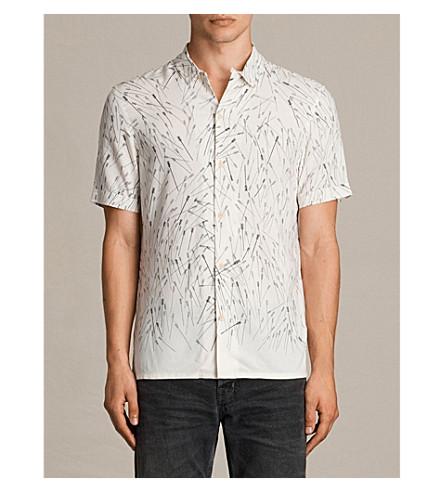 ALLSAINTS Blunt slim-fit printed shirt (Ecru+white