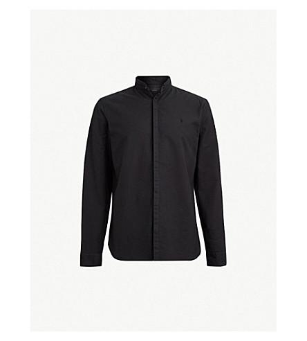 ALLSAINTS Augusta slim-fit cotton shirt (Black