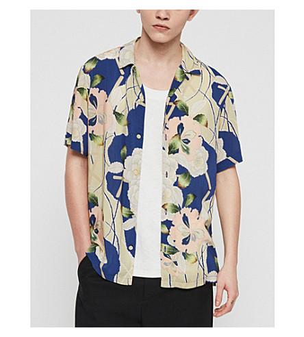 ALLSAINTS Hawaiian Shirt Project Fuyugi floral-print poplin shirt (Ink+navy