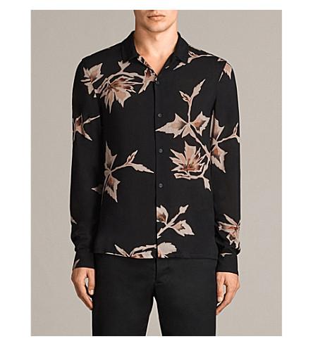 ALLSAINTS Tomales 梭织衬衫 (黑色
