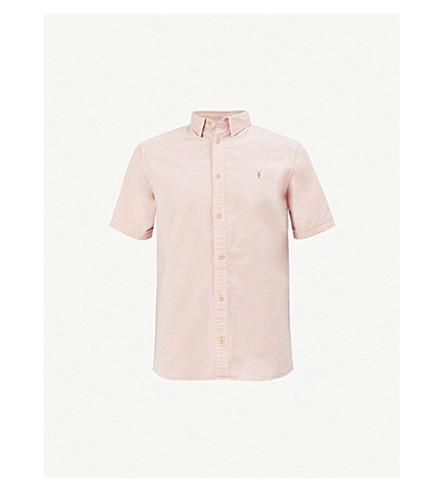 ALLSAINTS Hungtingdon embroidered cotton shirt (Bleach+pink