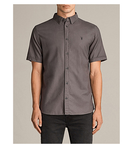 ALLSAINTS Hungtingdon embroidered cotton shirt (Cannon