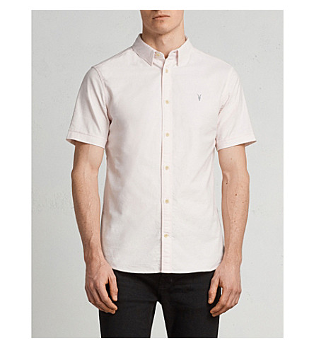 ALLSAINTS Hungtingdon embroidered cotton shirt Malo pink Outlet For Sale Fashionable Online Outlet Wide Range Of QXQBZqv7uW