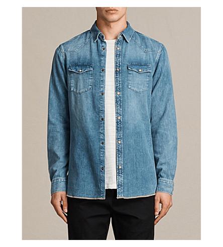 ALLSAINTS Ipsley regular-fit denim shirt (Indigo+blue