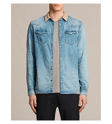 ALLSAINTS Doom denim shirt (Indigo+blue