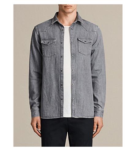 ALLSAINTS Glazer regular-fit denim shirt (Grey