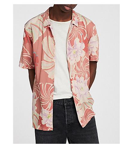ALLSAINTS Hawaiian Shirt Project Helix floral-print crepe shirt (Sunset