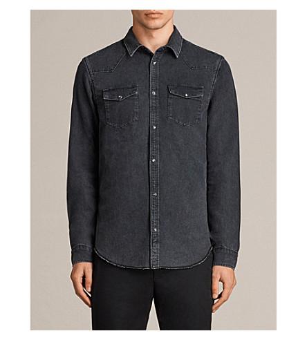ALLSAINTS Burbridge 牛仔衬衫 (黑色