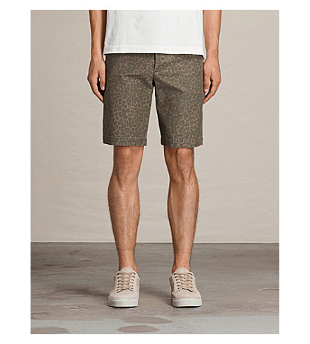 ALLSAINTS Kanzi leopard-print cotton shorts (Leopard