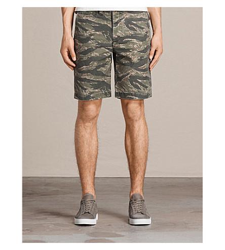 ALLSAINTS Fuji Camo cotton shorts (Varsity+camo