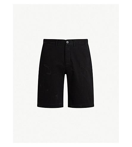 ALLSAINTSBora 修身版型棉质短裤 (黑色